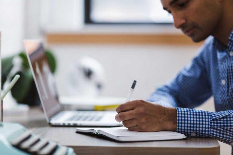 man planning a website redesign