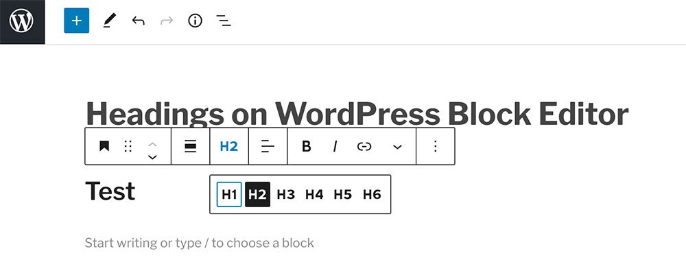the wordpress block editor interface