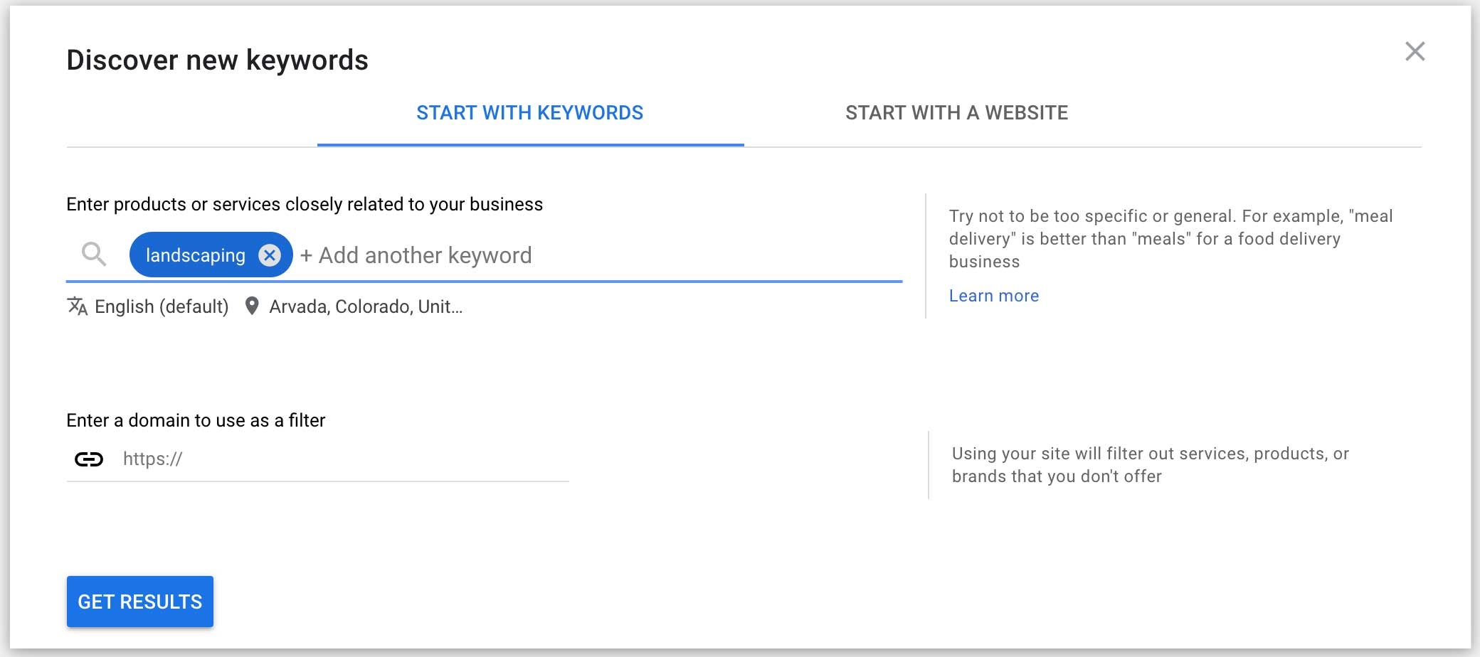 start with keywords for seo research